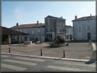 The market square in Chef Boutonne on a quiet Sunday morning