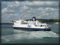 A P&O ferry prepares to leave Dover